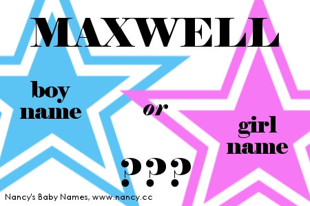 Maxwell - girl name or boy name?