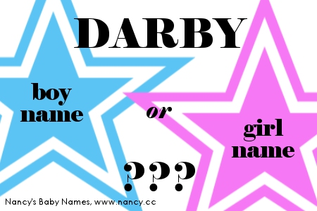 darby boy name or girl name
