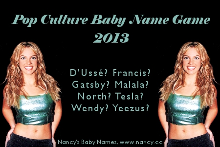 pop culture baby name game 2013