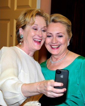 Hillary Clinton and Meryl Streep Selfie