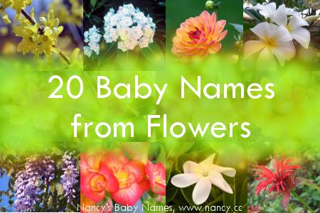 baby names from flowers
