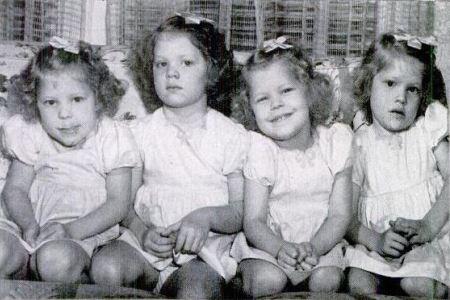 The Badgett Quadruplets in 1944