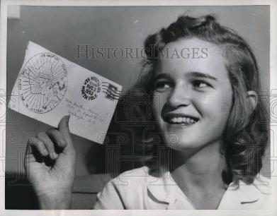 tootie stevens, 1958, with letter from North Pole