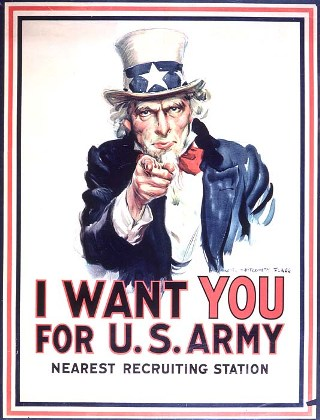 Uncle Sam army poster