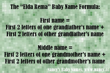 baby name formula, elda rema