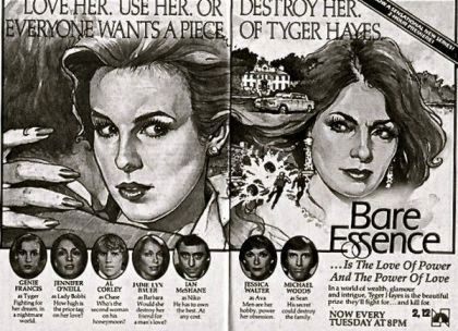 bare essence, tyger hayes, 1983, soap opera