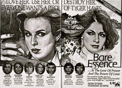 bare essence, tyger hayes, 1983, soap opera