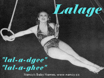 lalage, baby name, greek