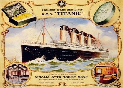vinolia soap, titanic