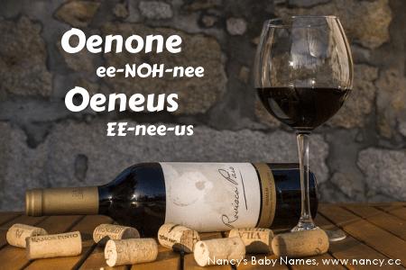 wine baby names, oenone, oeneus