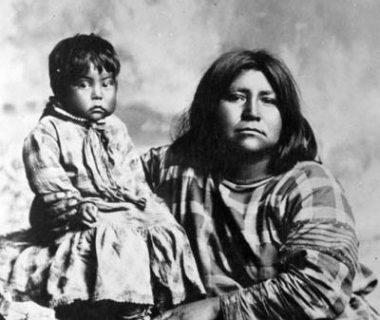 gosiute mother and child