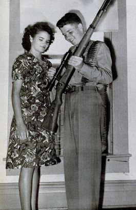 audie murphy, 1945, rifle