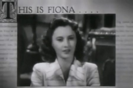 fiona, movie, 1940s, baby name