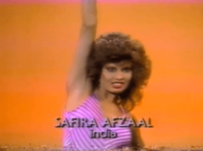 Safira Afzal, The Most Beautiful Girl in the World, beauty pageant, 1984