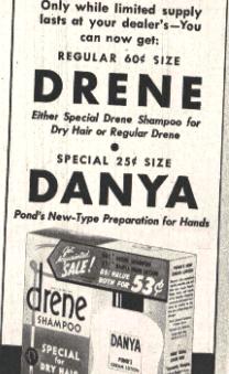 baby names, products, danya, drene, 1940s, 1930s