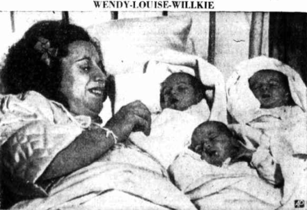 Wendy, Louise and Willkie Cuttita, born in 1940