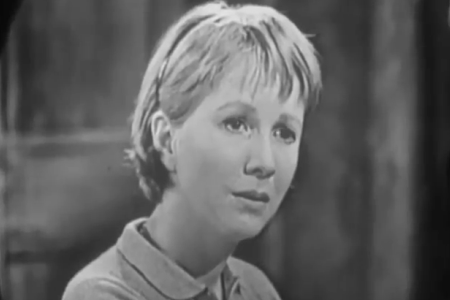 """Shevawn (Julie Harris) in the 1955 TV episode """"A Wind from the South"""" (part of The United States Steel Hour)."""