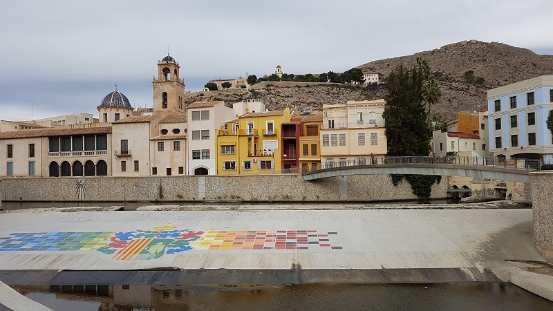 A view over the river to Orihuela old town