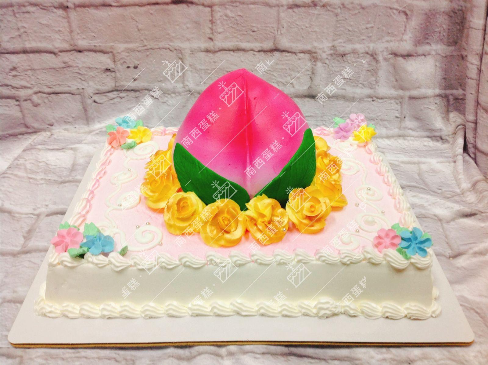 臺北壽桃造型蛋糕-南西蛋糕