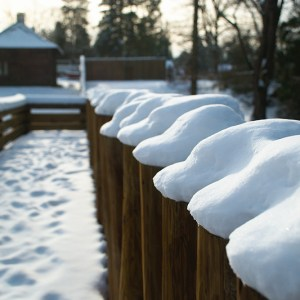 Fort Langley in snow