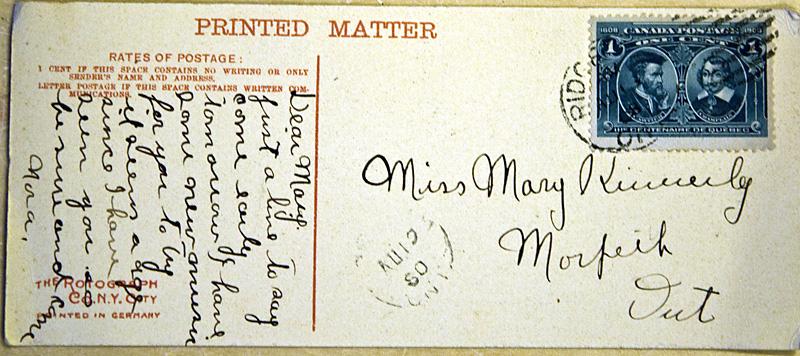 Postcard to my Great Grandma, sent in 1908.