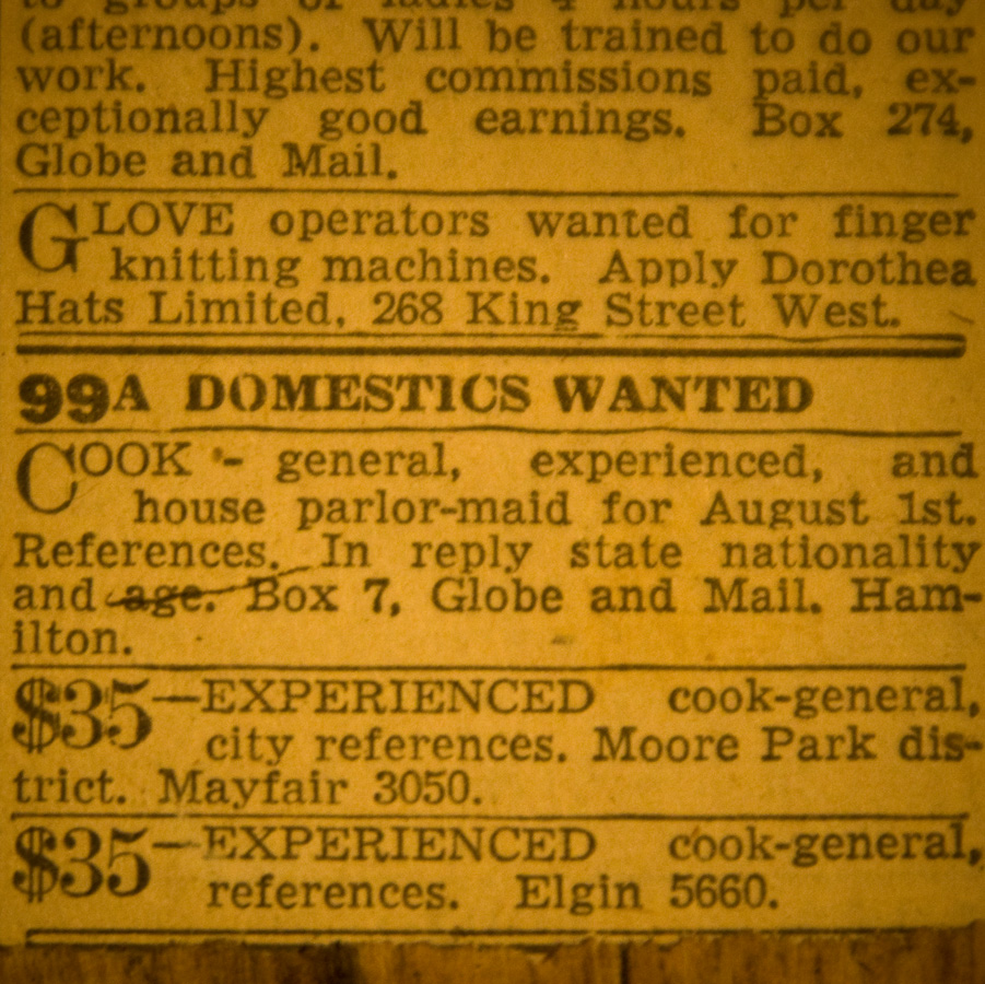 Help Wanted ads from the 1940s…I think the reason I love to do mixed media and collage is so I can look at these interesting old things.