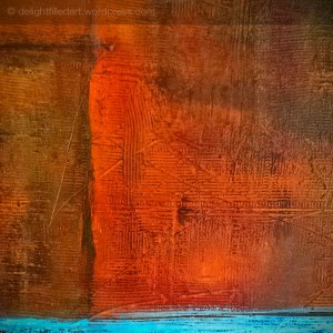 artsydefined detail of mixed media painting colour