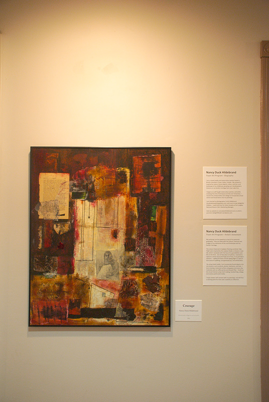 Courage painting, Mixed Media / Nancy Hildebrand