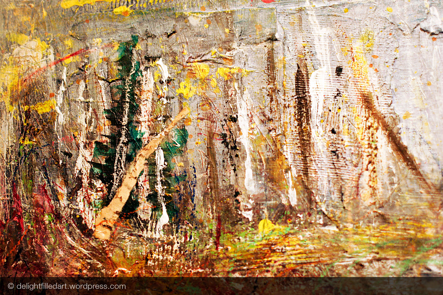 November woods: when paper scraps start to appear, I must be getting somewhere.