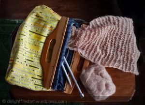 handmade knitting tote