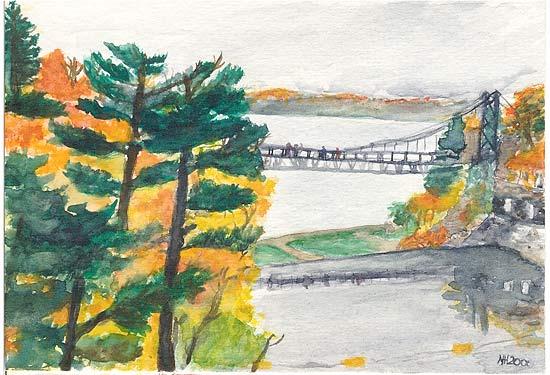 Test Caption for Bridge. dark style. top position