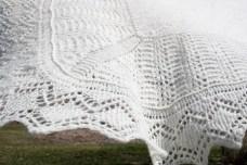 shetland lace handknit blanket