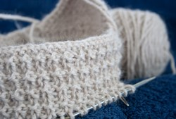 Alpaca hat for baby with earflaps
