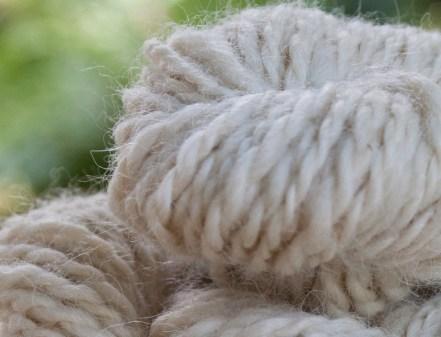 skein of handspun alpaca yarn