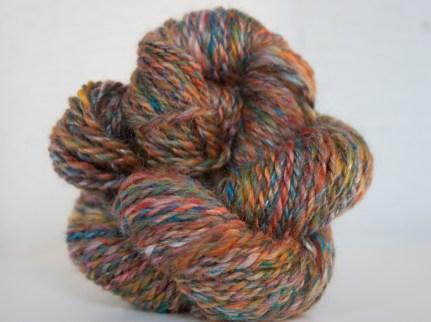 Skein Merino and Silk handspun yarn