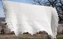 Handknit Shetland lace shawl