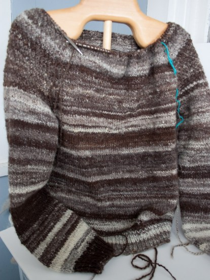 handspun handknit wool sweater-winter-roads-8852