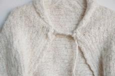 angora silk baby shrug details