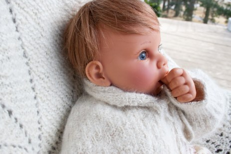 hand knit baby sweater-8699