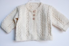 hand knit baby sweater-8644