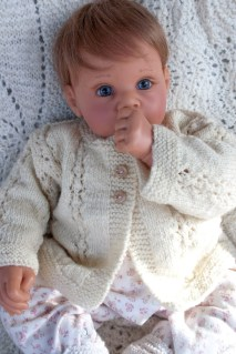 hand knit baby sweater-8743