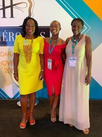 Sylvie Sagbo Gommard, Nancy Kawaya et la Chef Suzanne Badiane