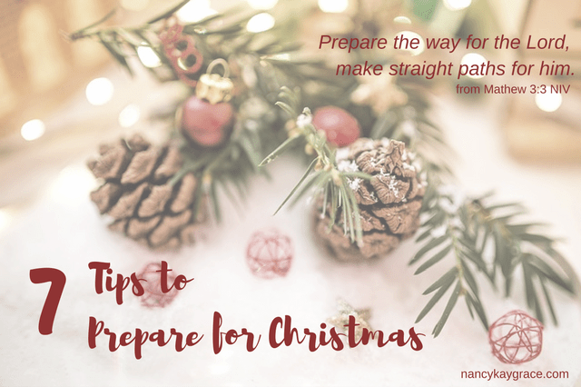 7 tips to prepare for Christmas