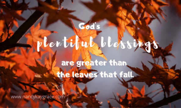 God's blessing are greater than the leaves that fall