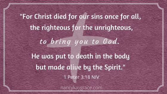 Lent verse 1 Peter 3.18
