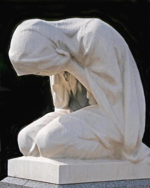 Weeping Woman -- Montparnasse Cemetery, Paris