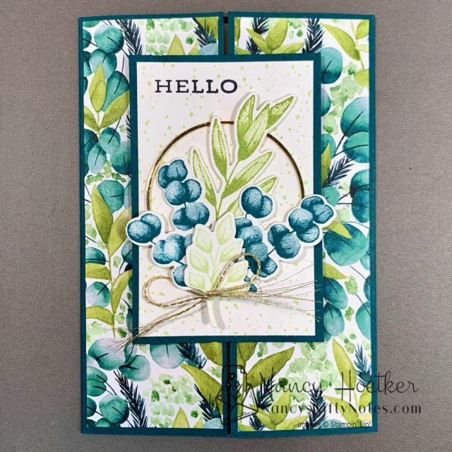 Forever Greenery Slide and Lock Card 1