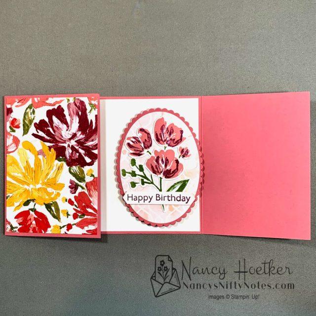 Fine Art Floral Slide and Lock Card 2