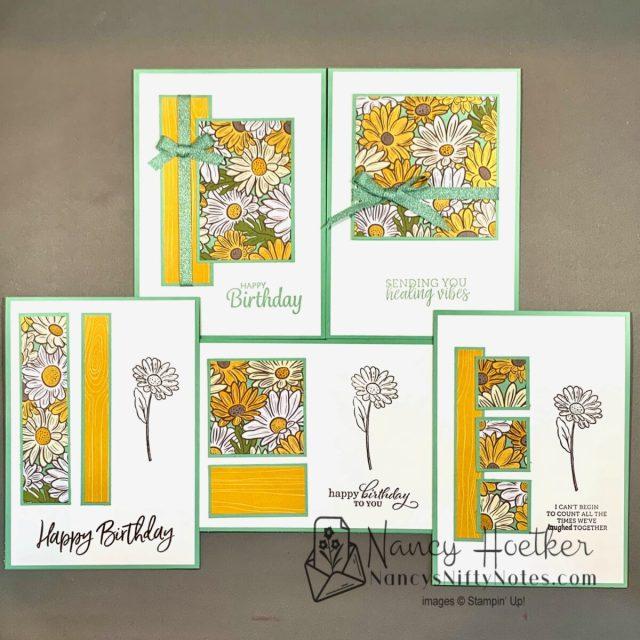 Stampin' Up! Ornate Garden 6 x 6 One Sheet Wonder Cards 1