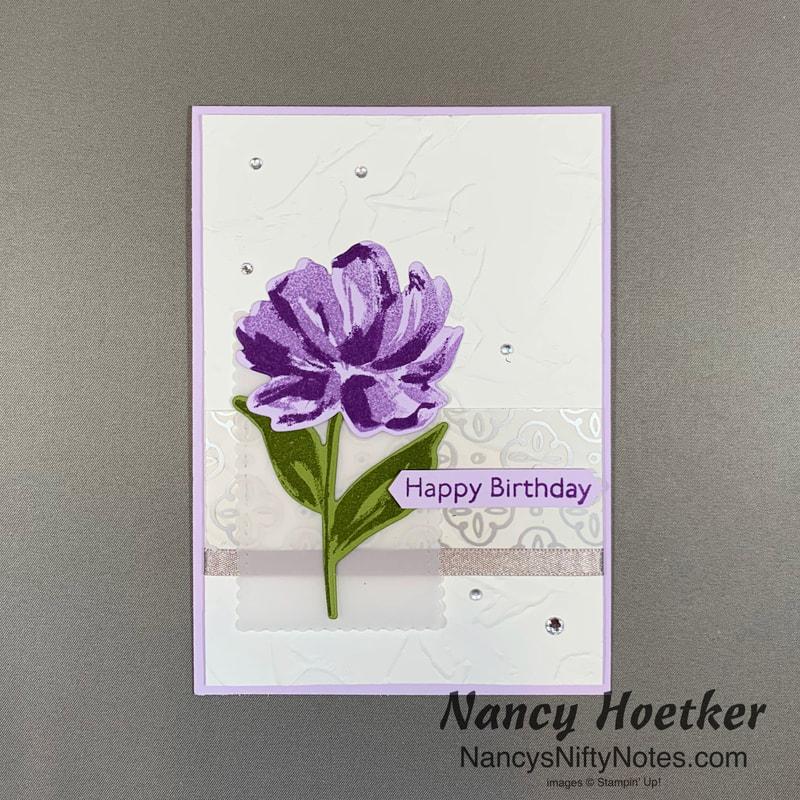 Stampin' Up Fine Art Floral Card 2.1